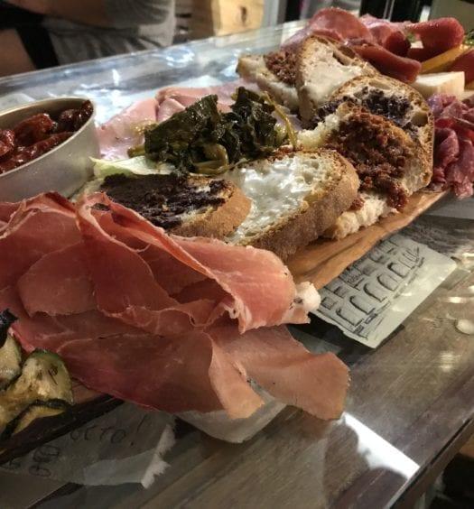 Cured Meats, Crostini, Mortadella, Pickles