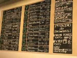Extensive list of Polish Craft Beer at 4 Hops in Wroclaw