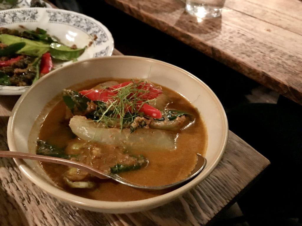 red thai curry at Som Saa