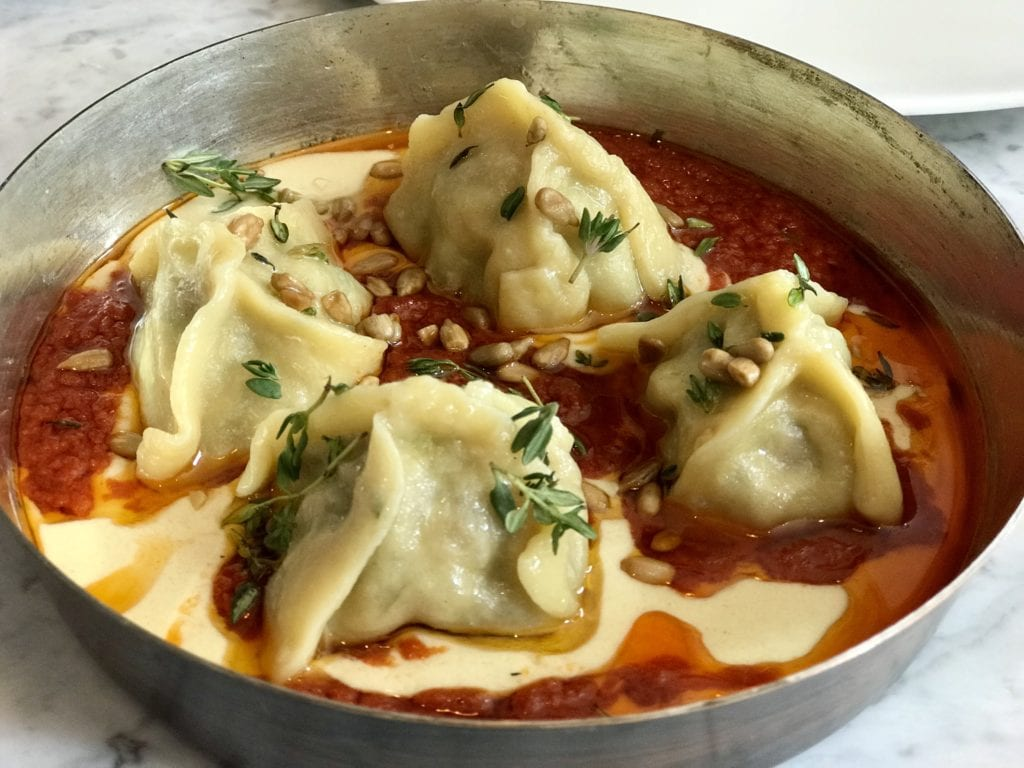 Spiced Beef & Sour Cherry Manti at Kyseri in London